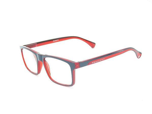 Óculos de grau Prorider vermelho com preto fosco ZF8832