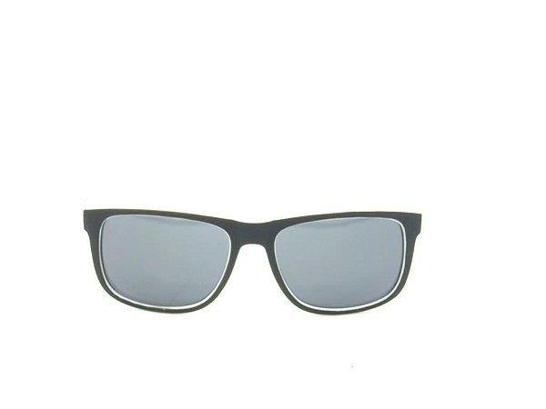 Óculos solar Code Blue preto e branco fosco ZA165