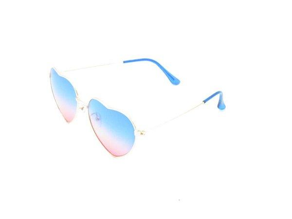 Óculos Solar Prorider Infantil dourado com lente degrade azul/rosa 20