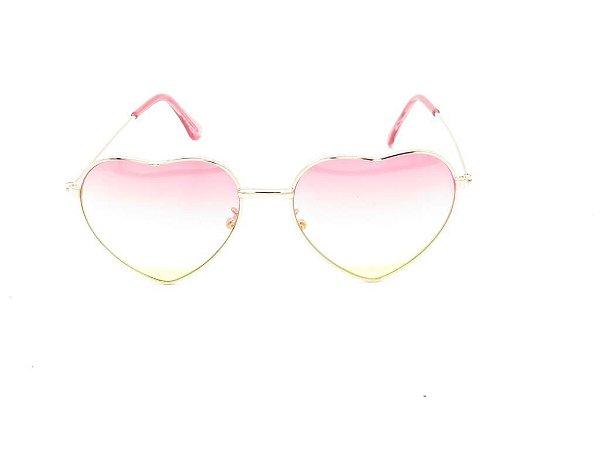 Óculos Solar Prorider Infantil dourado com lente degrade rosa JAZ3
