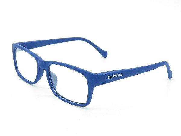 Óculos de grau Paul Ryan azul fosco 1037