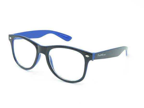 Óculos de grau Paul Ryan azul e preto D008-1