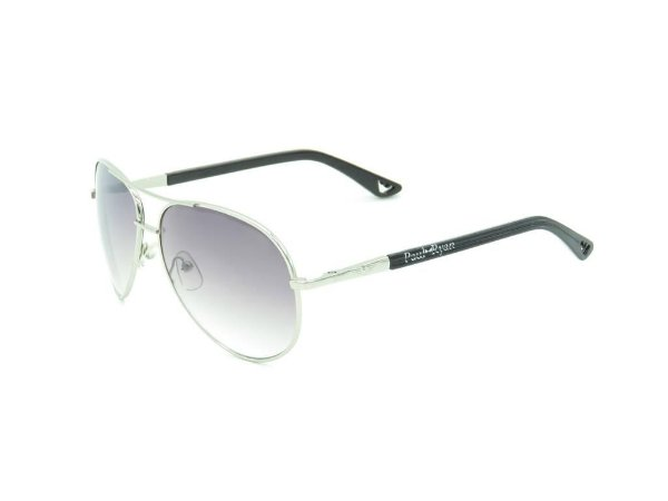 Óculos solar Paul Ryan preto com prata LE9GO