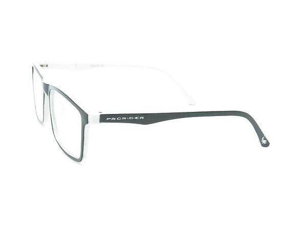 Óculos de grau Prorider preto e branco AM-0016
