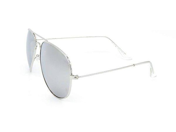 Óculos solar Prorider aviador prata H03026-2