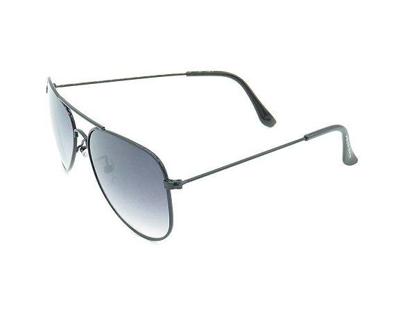 Óculos solar Prorider aviador preto com lente degradê SKIATHOS