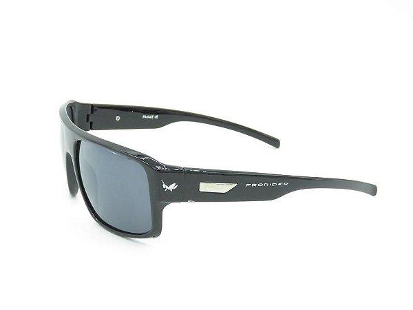 Óculos solar Prorider preto com detalhe prata YD1679C2