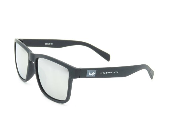 Óculos Solar Prorider Preto Fosco com detalhe prata Z-074