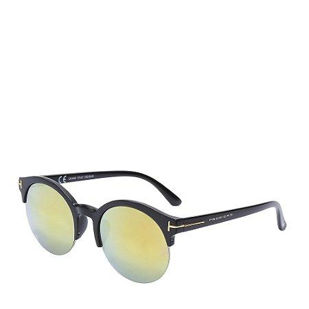 Óculos Solar Prorider Preto Fosco e dourado com lente gradiente YD1608C4