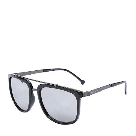 Óculos Solar Prorider Preto&Prata com lente cinza HM7010C2