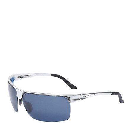 Óculos Solar Prorider Preto&Prata com lente azul L091SC2