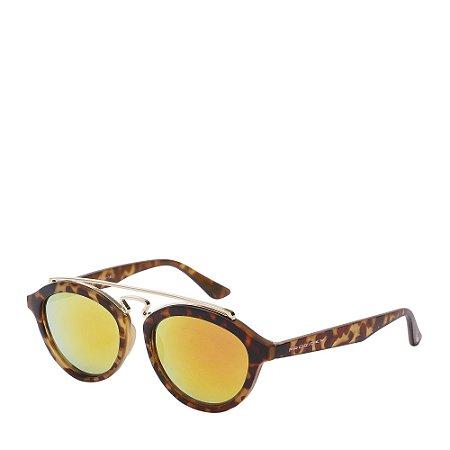 Óculos de Sol Prorider Dourado e Tartaruga - LM9283C7