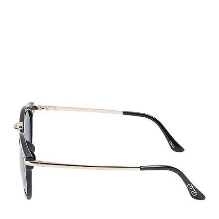 Óculos Solar Otto Preto Fosco&dourado CYCLE