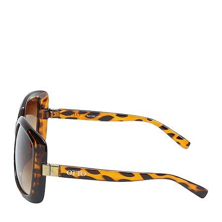 Óculos Solar Otto Preto e amarelo tartaruga SRL4241