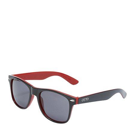 Óculos Solar Otto Preto Vermelho Fosco Wayfarer W1-1