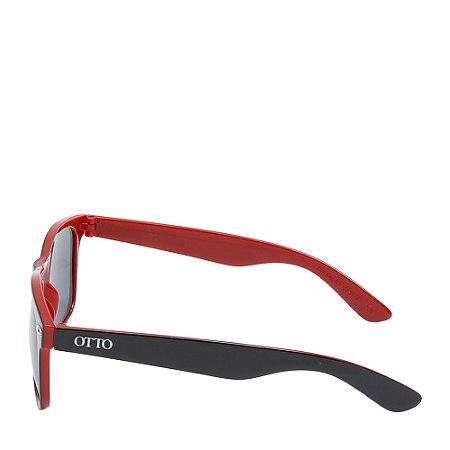 Óculos Solar Otto preto&vermelho Fosco wayfarer W1-1