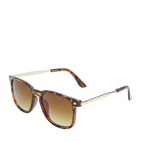 Óculos Solar Otto Marrom Fosco e dourado YY12