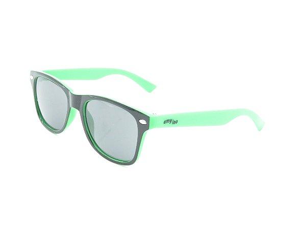 Óculos Solar infantil  Amy Loo Preto Fosco e verde  7414