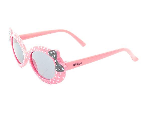 Óculos solar infantil Amy Loo rosa e preto 7416