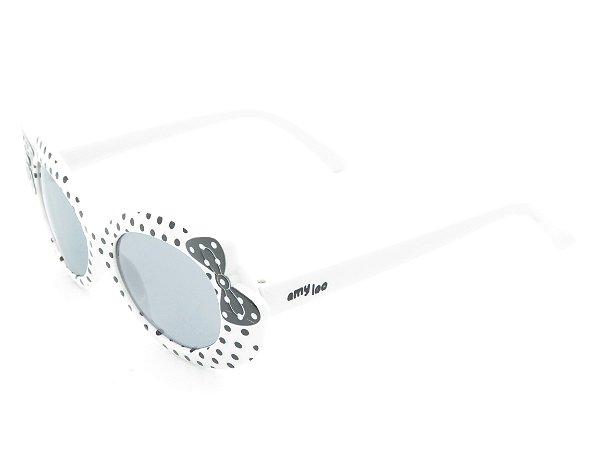 Óculos solar infantil Amy loo preto e branco 7418