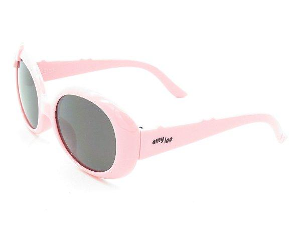Óculos solar infantil Amy Loo rosa 7420