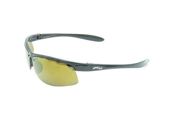 Óculos solar infantil Amy Loo preto fosco 7376