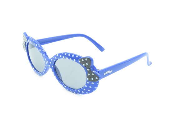 Óculos solar infantil Amy Loo azul e preto 7378