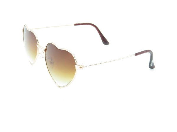 Óculos solar infantil Amy Loo dourado e marrom 7384