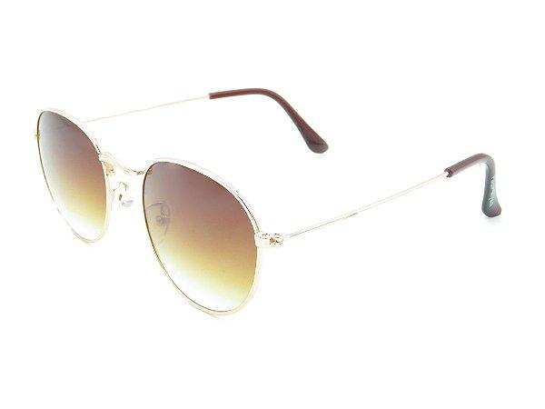 Óculos solar Paul Ryan dourado e preto 7386