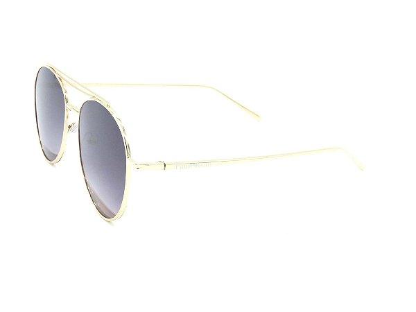 Óculos de Sol Paul Ryan dourado com lente degradê TUNI