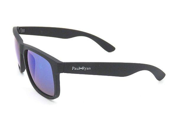 Óculos Solar Pul Ryan Preto Fosco com lente degradê Z4165-2