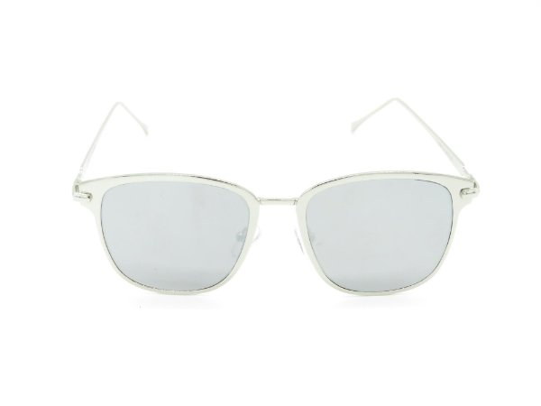 Óculos de Sol Paul Ryan prata com lente espelhada FY8031C7