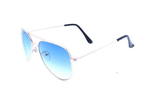 Óculos Prorider aviador dourado com lente degrade 78