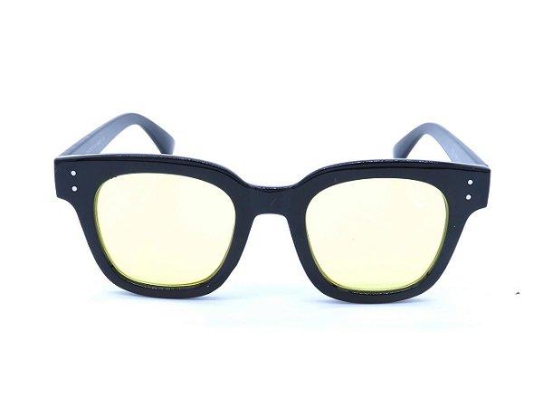 Óculos solar Prorider preto com lente amarela CJH72027C4