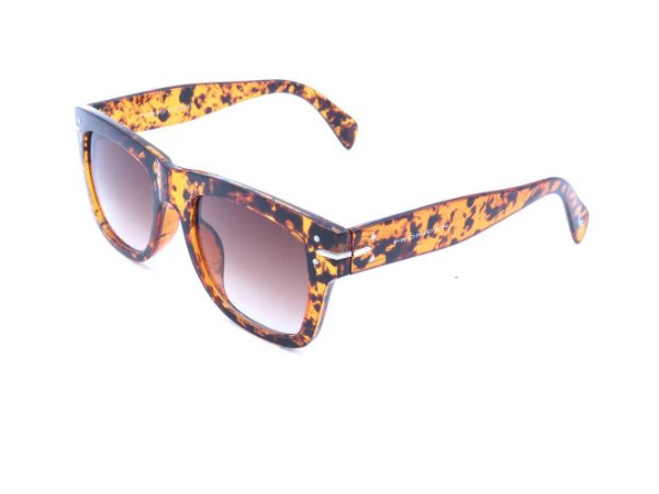 Óculos solar Bad Rose com animal print e lente degrade FY82003C6