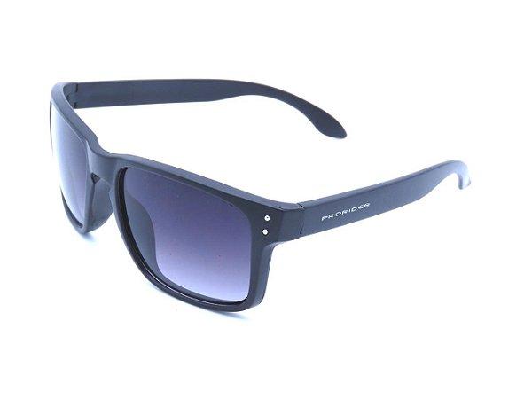 Óculos solar Preto fosco com lente degrade XH6717