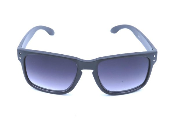 Óculos Solar Preto Fosco com Lente Degrade - XH6717