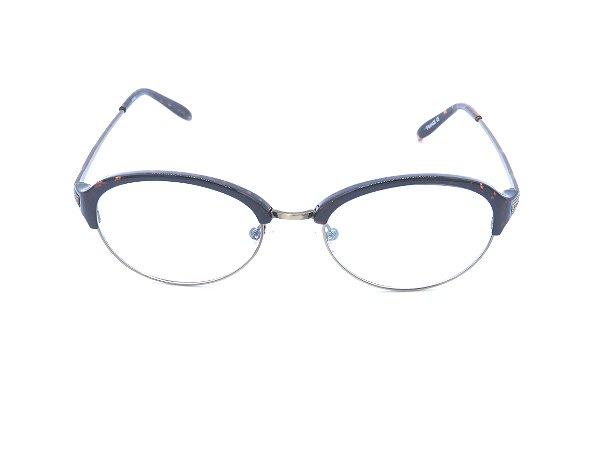 Óculos de Grau Polo Walker Animal Print com Dourado - 066
