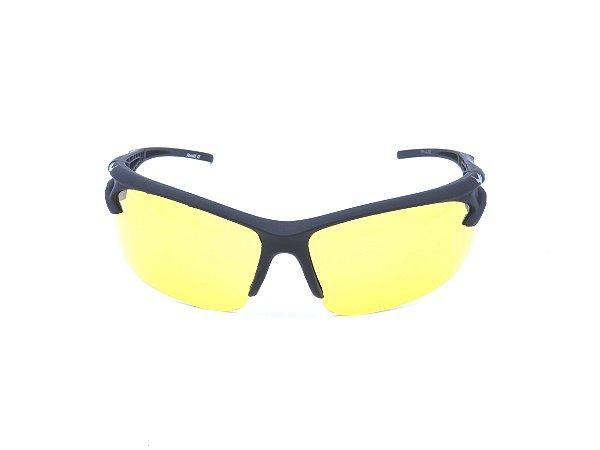 Óculos solar Prorider preto fosco com lente amarela 2014-32