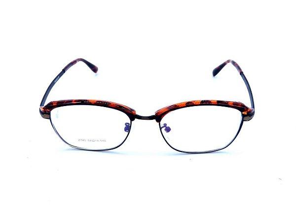 Óculos de Grau Prorider Animal Print com Dourado e Preto - 2740-C7
