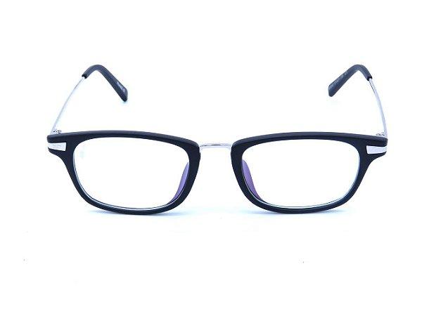 Óculos de Grau Prorider Preto Fosco com Prata - B6042-C1