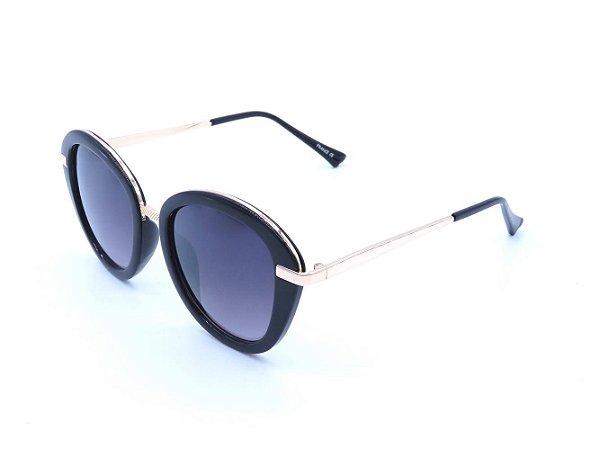 Óculos Solar Prorider Preto com Dourado e Lente Degrade - CAYMAN