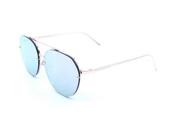 Óculos solar Prorider dourado com lente espelhada prata - D071002C5