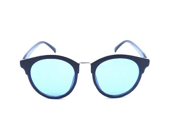 Óculos Solar Bad Rose Preto com Lente Azul - CJ6103C5