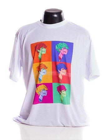 Camiseta branca Bad Rose Personagem Autoral Nanami Nem - POPGORE