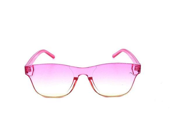 Óculos solar Optyl Prorider Rosa Translúcido com Lente Degrade Amarela