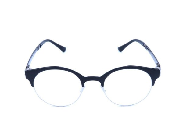 Óculos Grau Prorider Preto Fosco com Prata e Haste Marrom