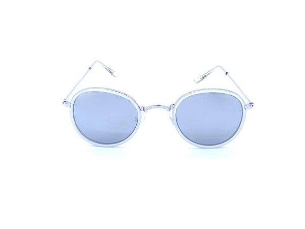 Óculos solar Prorider Prata e Cinza com Lente Espelhada Prata