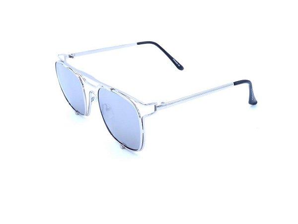 Óculos Solar Prorider Prata com Lente Espelhada Prata - H01561C6