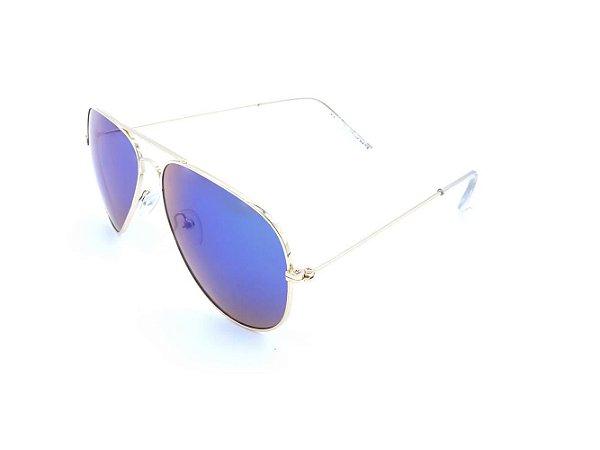Óculos Solar Prorider Aviador Dourado com Lente Espelhada Colors - H03026-3